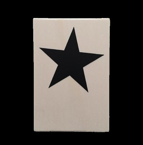 houten kaart ster