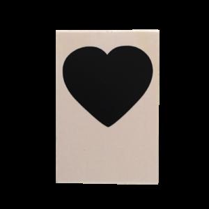 Houten kaart hart vrij