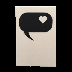 houten kaart tekstwolk hartje