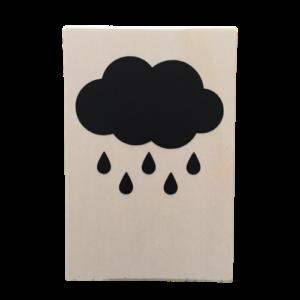 houten kaart wolk regen