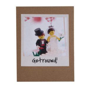 kaart Lego getrouwd