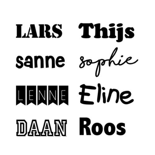 Beschikbare lettertypes