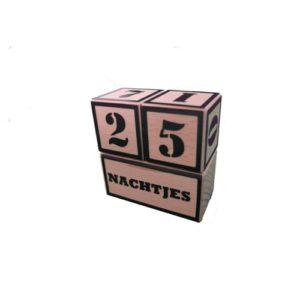 aftelkalender hout