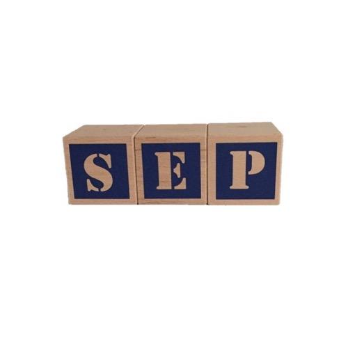houten blokken met naam