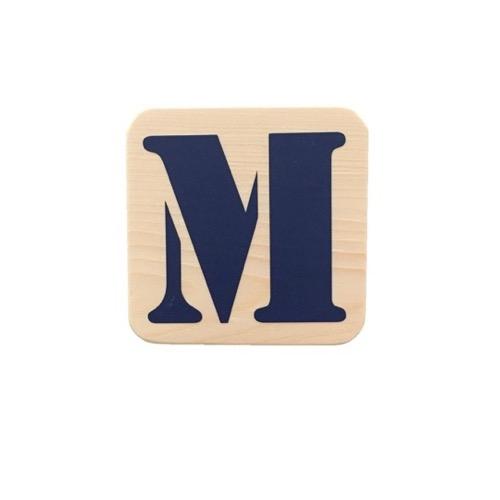 houten blok met letter