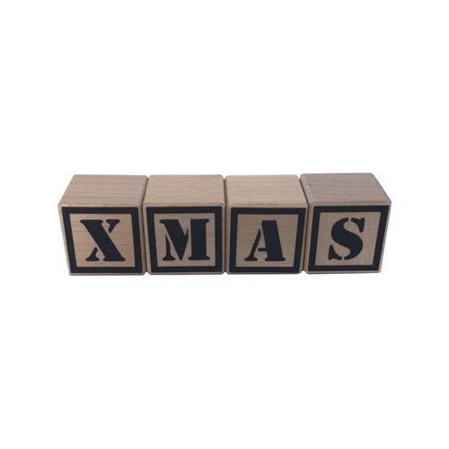 houten blokken kerst