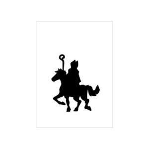 kaart Sinterklaas op paard