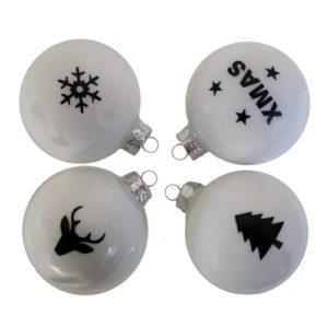 kerstballen met stickers