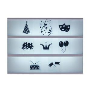 Symbolen lightbox