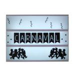 Lightbox symbolen carnaval