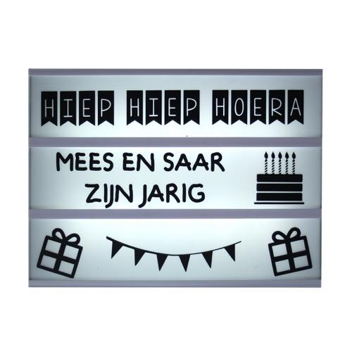 lightbox symbolen verjaardag