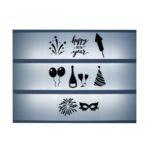 Lightbox symbolen Oud en nieuw