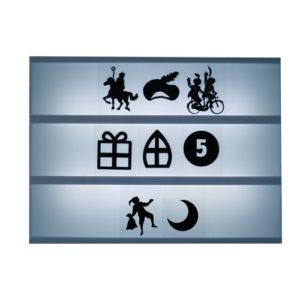 Symbolen lightbox Sinterklaas