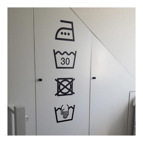 sticker wassymbolen