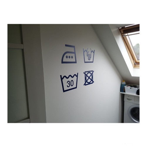 Stickers wasruimte