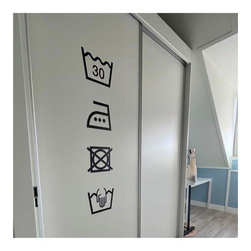 stickers met wassymbolen