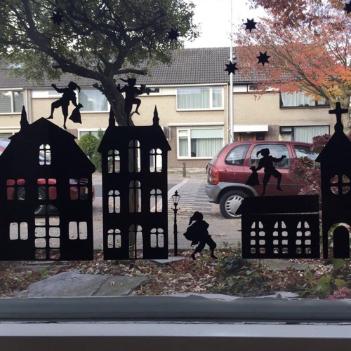 Raamsticker Sinterklaas