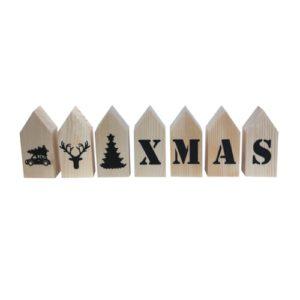 Houten huisjes kerst