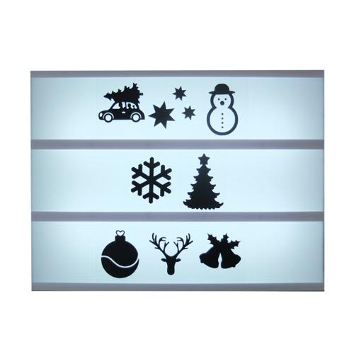 Symbolen Lightbox kerst