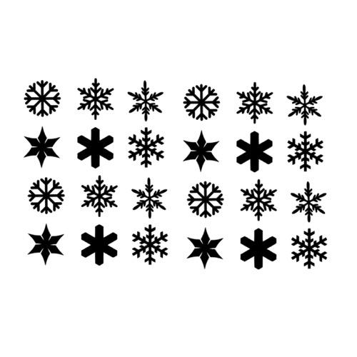 raamsticker sneeuwvlokken