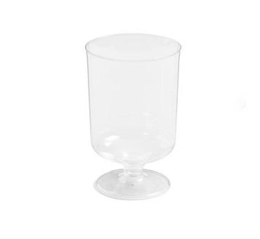 plastic glas met voetje