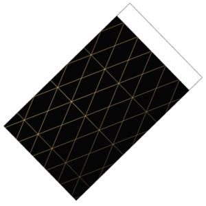 Cadeauzakje geometric zwart goud