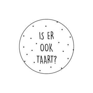Sticker Is er ook taart?