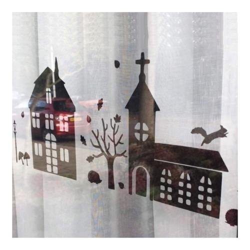 sticker huisjes herfst