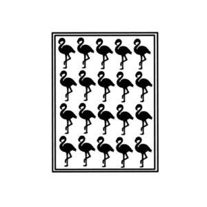 sticker traktatie flamingo