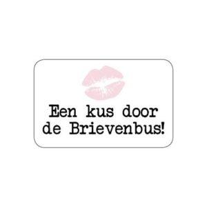 Sticker Een kus door de brievenbus