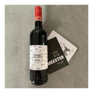 etiket wijnfles met eigen tekst