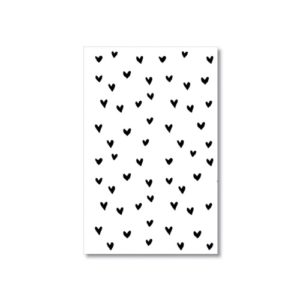 minikaartje hartjes