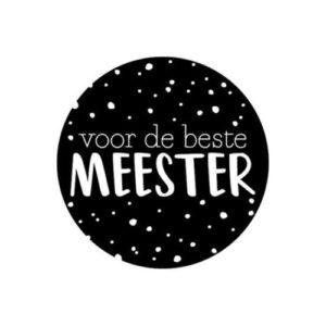 sticker meester