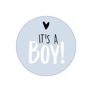 sluitsticker geboortekaartje jongen