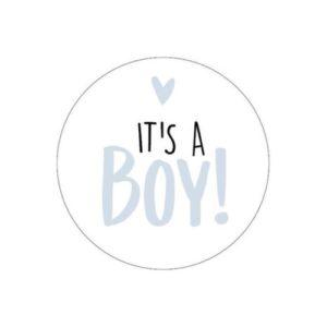sticker geboorte jongen