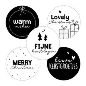 inpakken stickers kerst